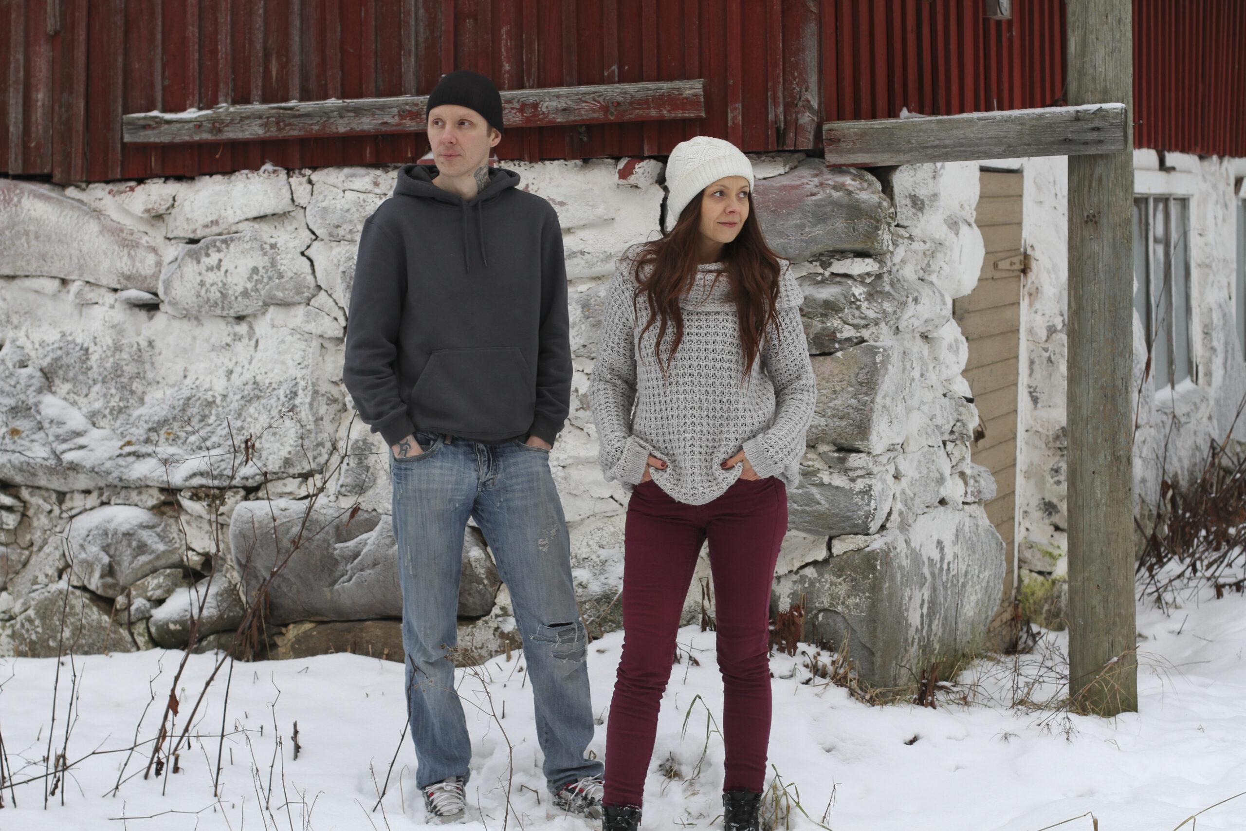 Marja-Leena miehensä Eliaksen kanssa